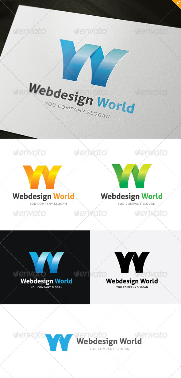 GraphicRiver Web Design World Logo 5310760