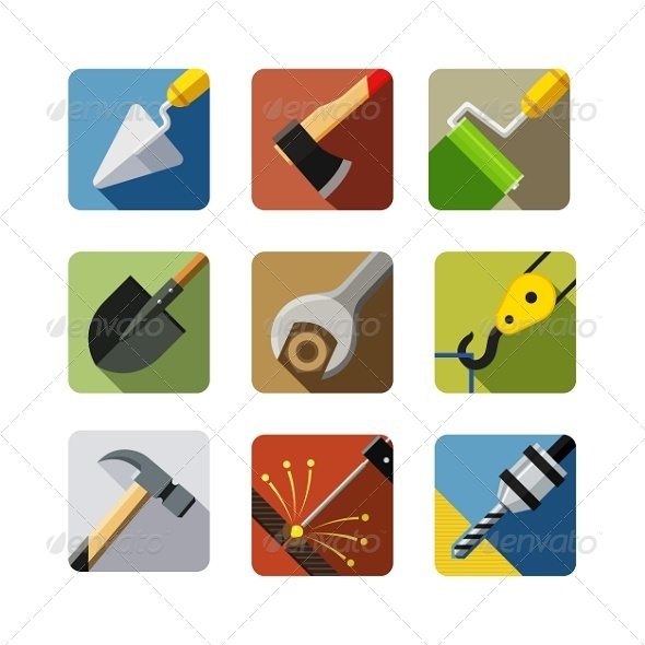 GraphicRiver Construction Tools Set of Vector Icons 5311242