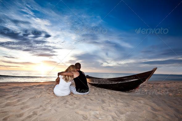 Romantic sunrise - Stock Photo - Images
