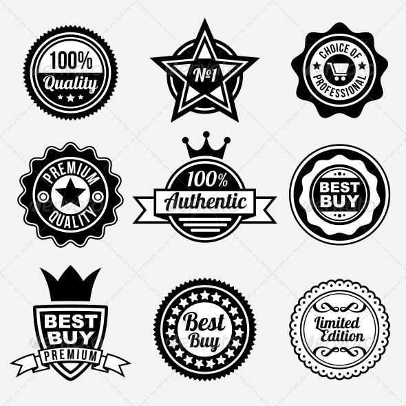 GraphicRiver Set of Premium Quality Labels and Stickers 5311316