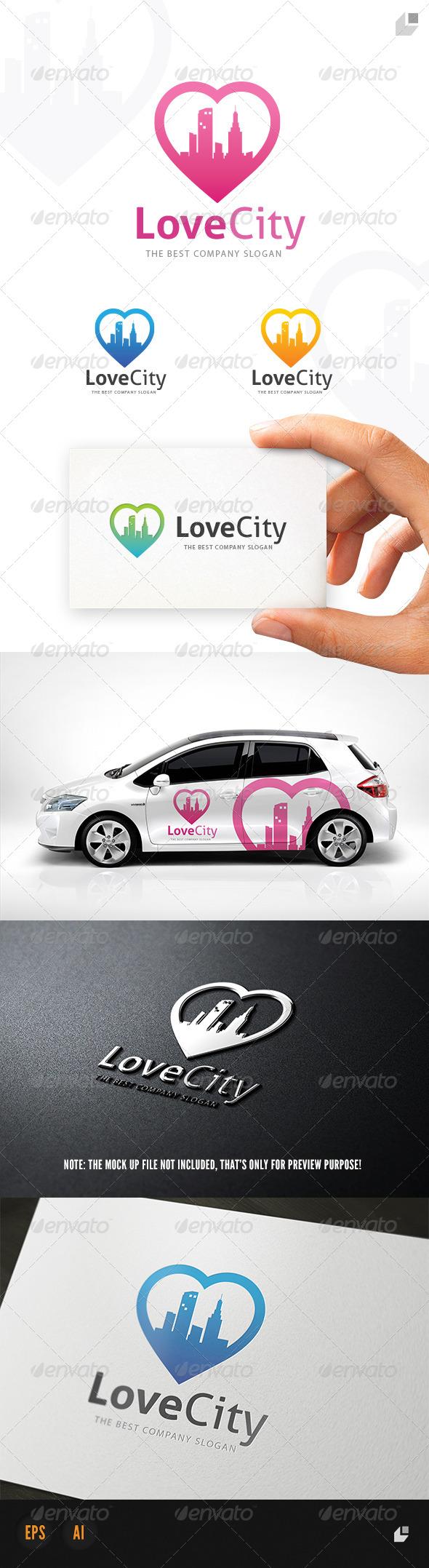 GraphicRiver Love City Logo 5311462