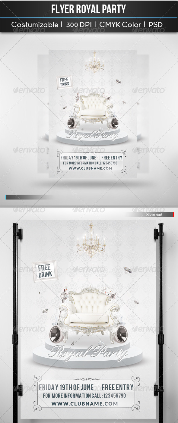 GraphicRiver Flyer Royal Party 5311809