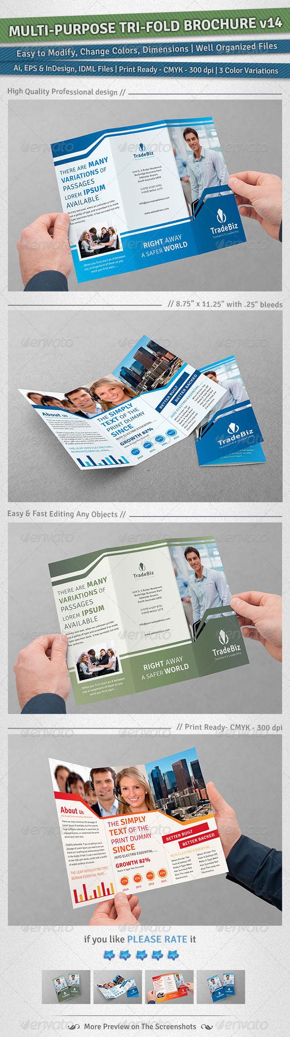 GraphicRiver Multi-purpose Tri-Fold Brochure Volume 14 5311821