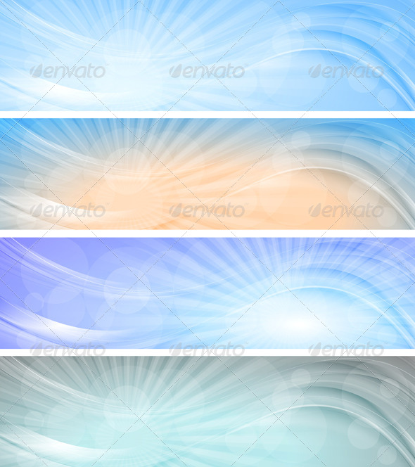 GraphicRiver Abstract Vector Sky Banners 5312110