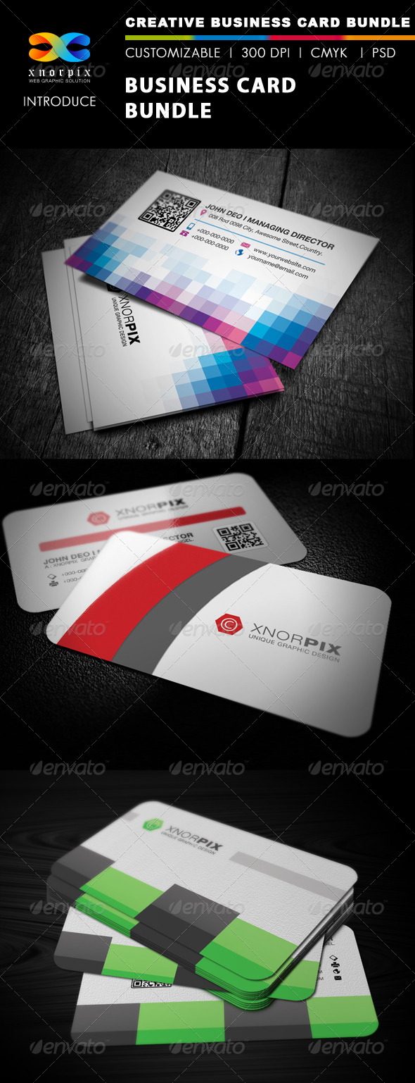 GraphicRiver Business Card Bundle 3 in 1-Vol 17 5312176