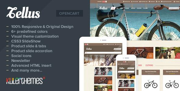 ThemeForest Tellus Responsive OpenCart theme for bike store 5312236