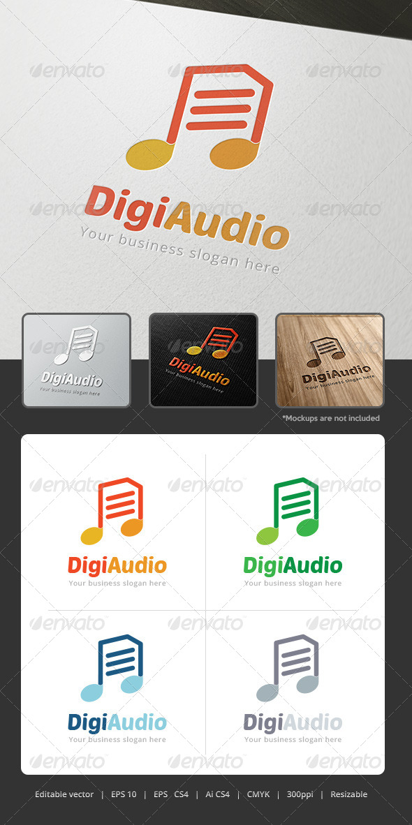GraphicRiver DigiAudio Logo 5312268
