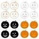 Download Vector Halloween Pumpkins Jack O Lantern, Set