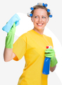 Young woman is cleaning glass using rag - PhotoDune Item for Sale