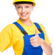 Young construction worker is showing thumb up sign - PhotoDune Item for Sale