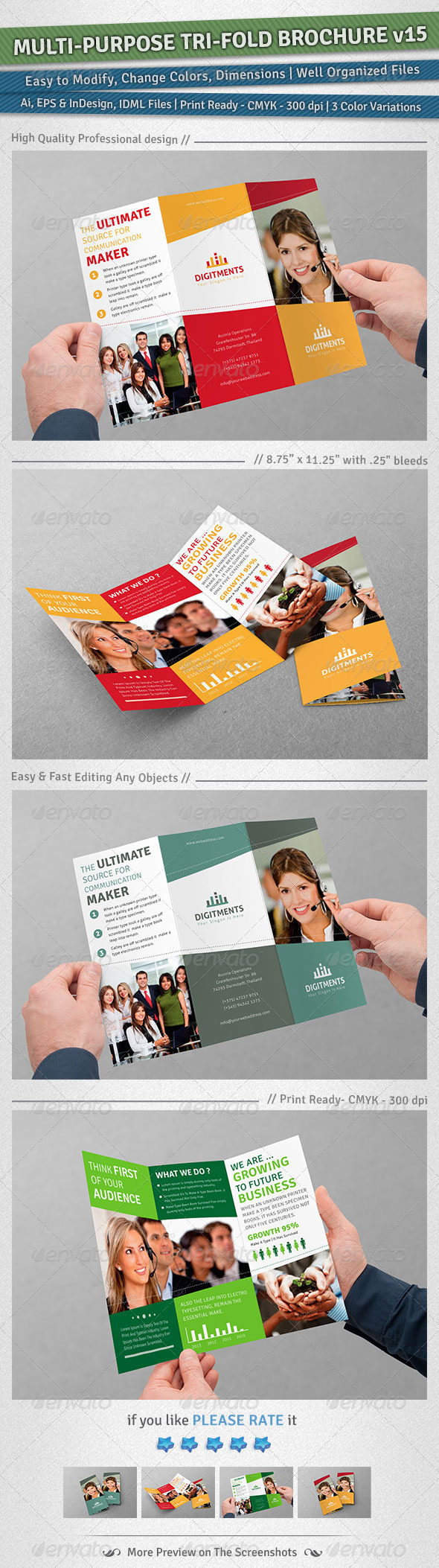 GraphicRiver Multi-purpose Tri-Fold Brochure Volume 15 5312605