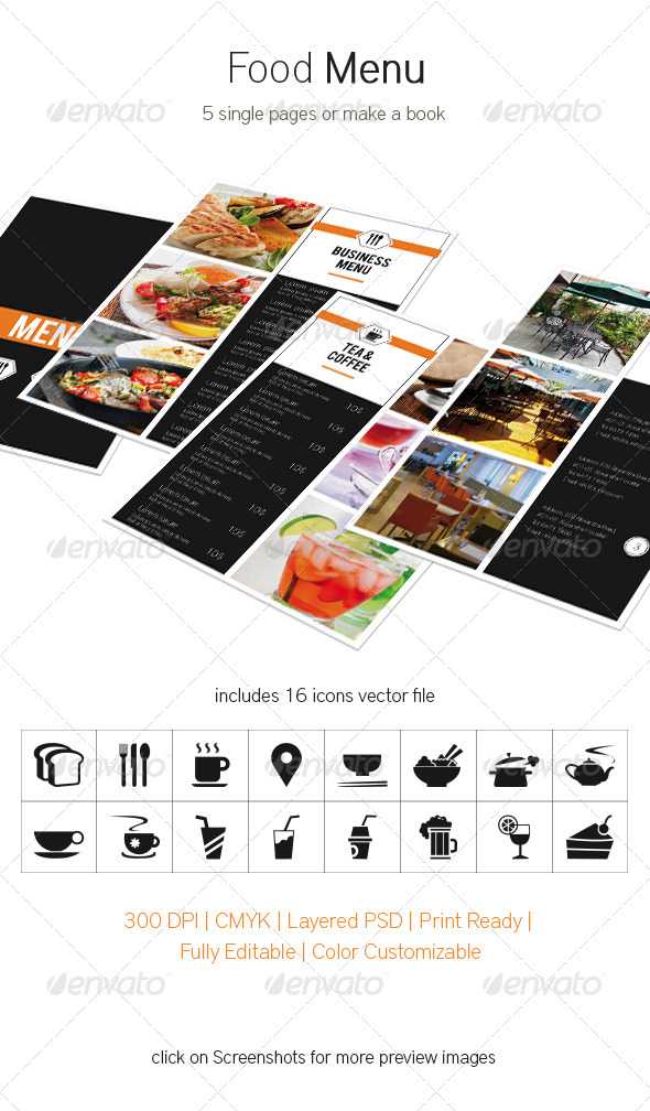 GraphicRiver Food Menu 5312958