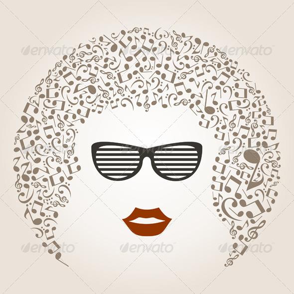 GraphicRiver Musical Female Head 2 5313005