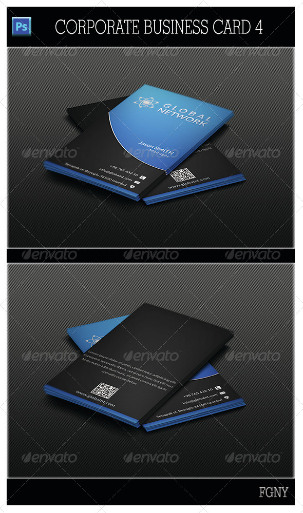 GraphicRiver Corporate Business Card 4 5313032