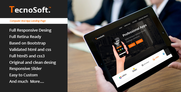 TecnoSoft - Computer/Apps Landing Page Theme - Computer Technology