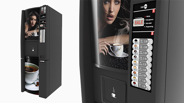 3DOcean Coffee Vending Machine 5313163