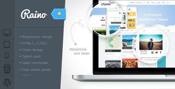 ThemeForest Raino Clean Blog and Portfolio Resonsive 5228119