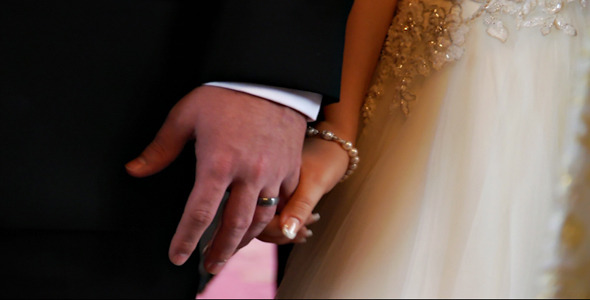VideoHive Bride and Groom Hands Close Up 5314307