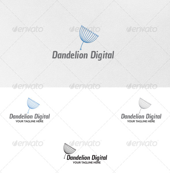 GraphicRiver Dandelion Digital Logo Template 5314594