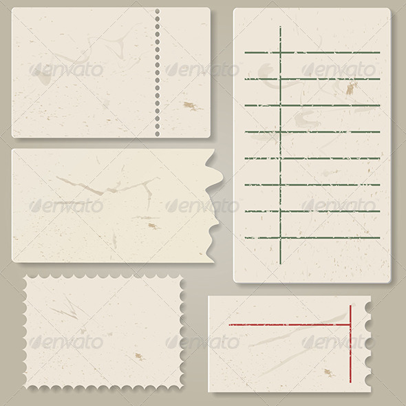 GraphicRiver Pieces of Old Paper 5314729