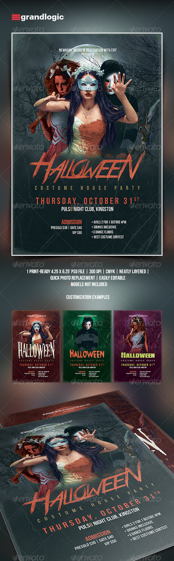 GraphicRiver Halloween Party Flyer 5314945