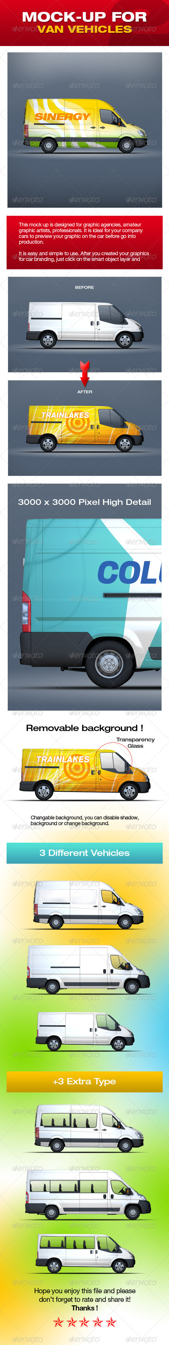 GraphicRiver Mock-Up For Van Vehicles V2 5314968