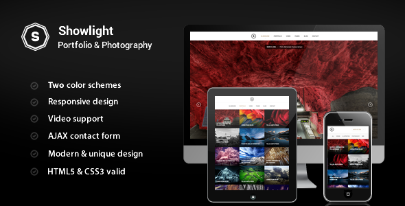 ThemeForest Showlight Portfolio & Photography Template 5314970