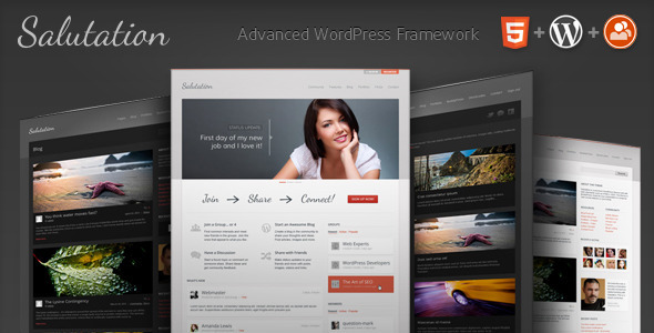 Salutation: WordPress + BuddyPress Theme - BuddyPress WordPress