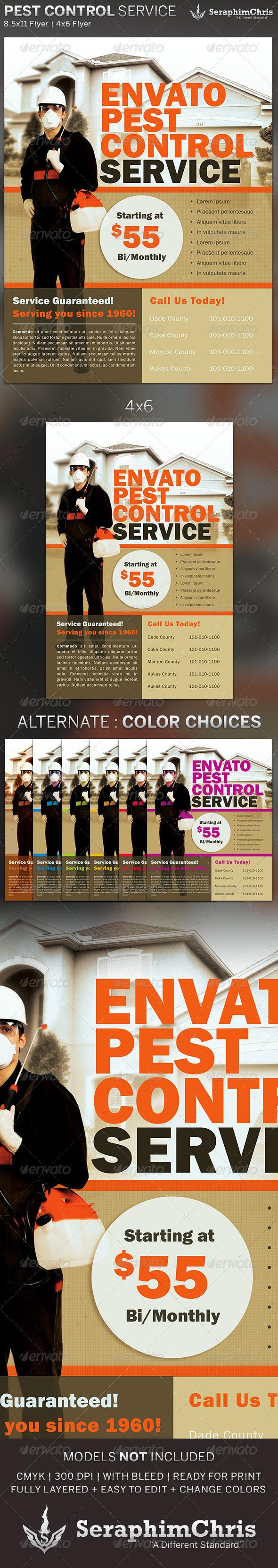 GraphicRiver Pest Control Service Flyer Template 5315500