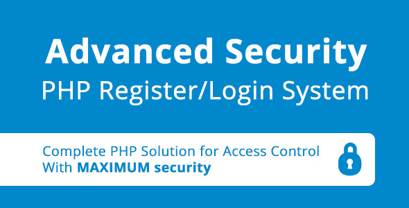 CodeCanyon Advanced Security PHP Register Login System 5282621