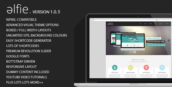 Alfie The Responsive Bootstrap WordPress Theme - Portfolio Creative