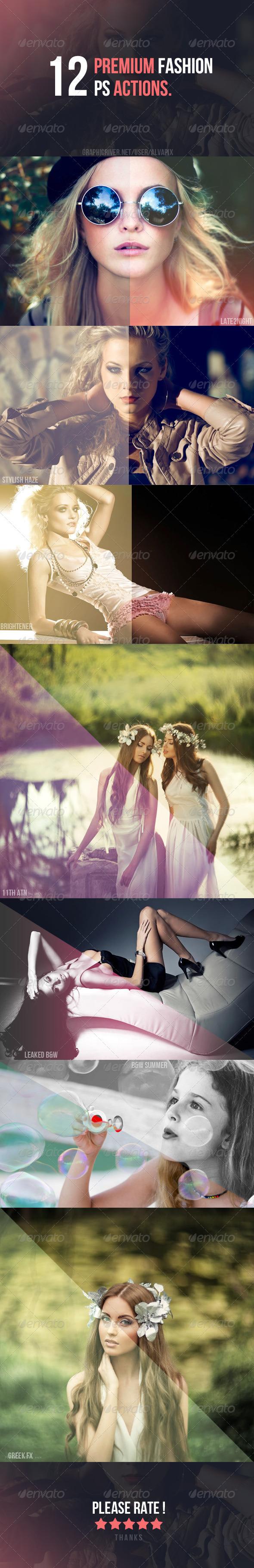 GraphicRiver 12 Fashion Premium Actions 5315695