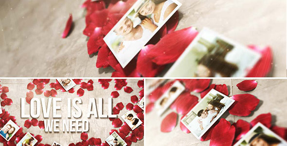 FREE After Effects Template - Rose Petals Heart