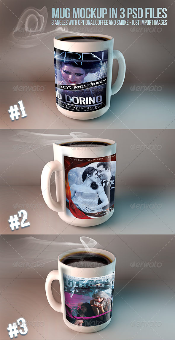 GraphicRiver Mug Mockups 3 PSD files 5316279