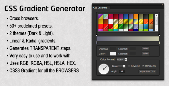 CodeCanyon CSS Gradient Generator 5316282