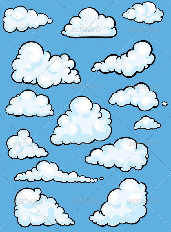 GraphicRiver Set of Clouds 5316752