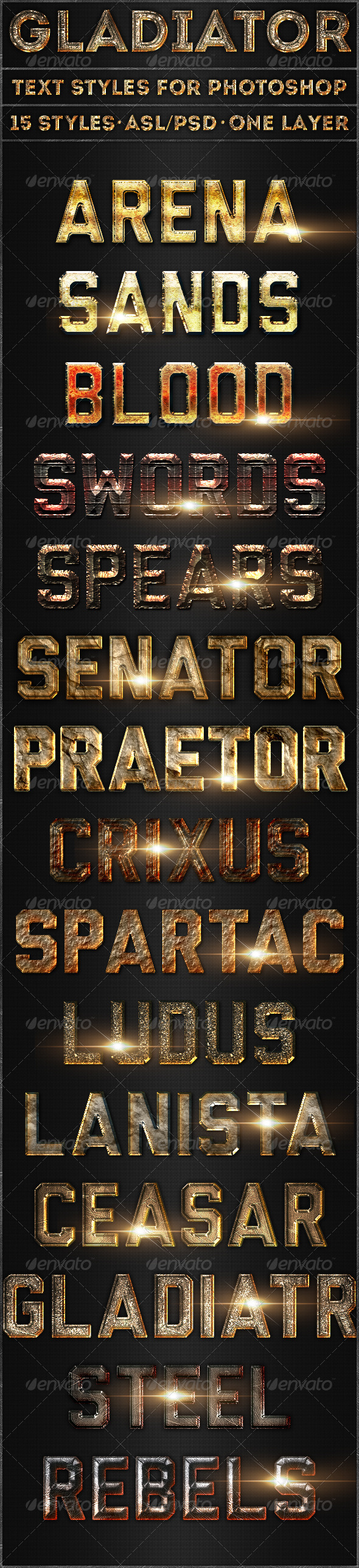 GraphicRiver Gladiator Text Styles 5317136