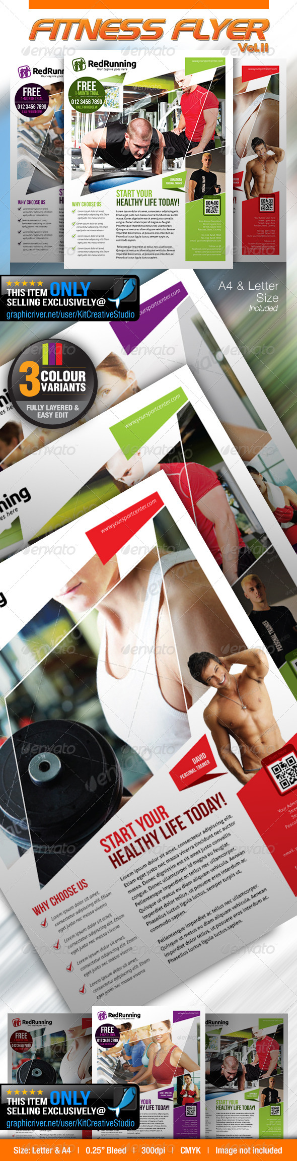 GraphicRiver Fitness Flyer Vol.11 5317137