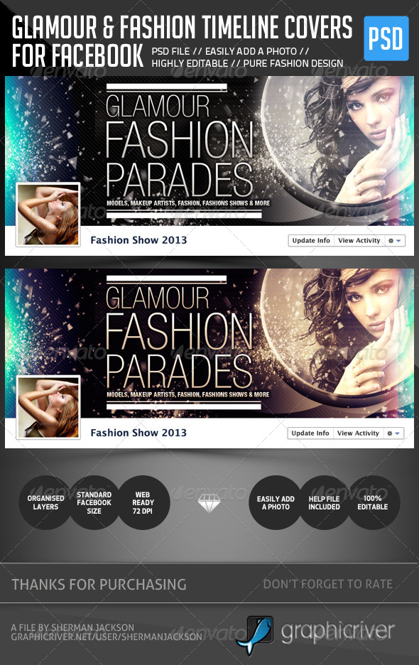 GraphicRiver Glamour & Fashion Facebook Timeline Cover 5317202
