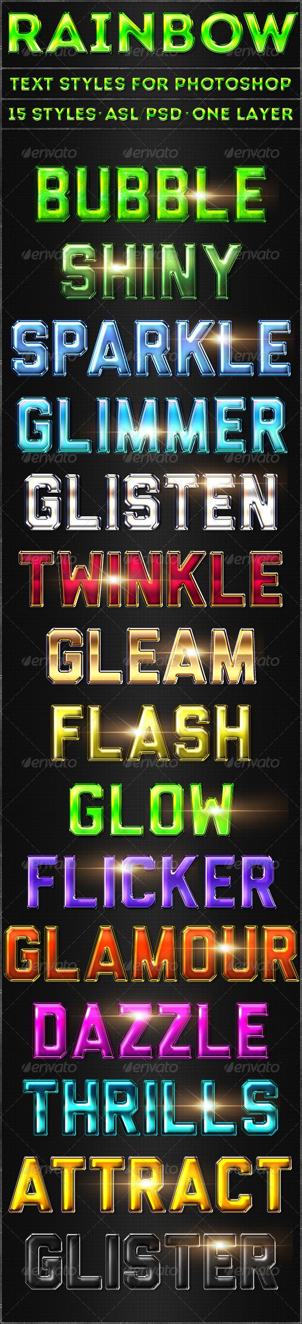 GraphicRiver Rainbow Text Styles 5317805