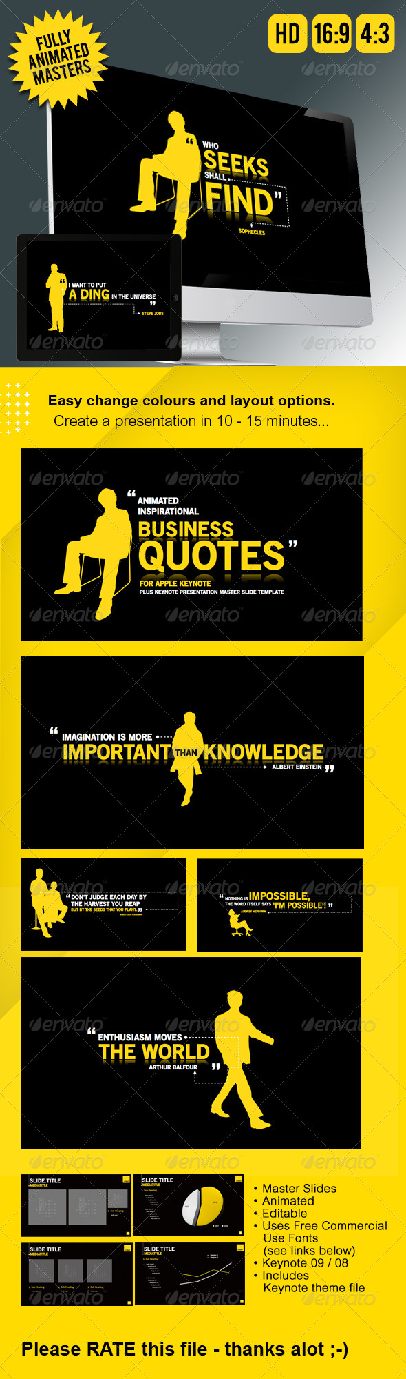 GraphicRiver Keynote Presentation Business Animation 3924424