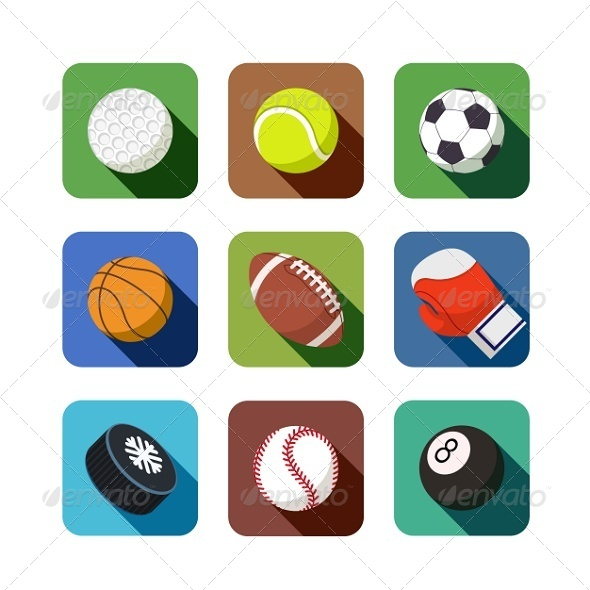 GraphicRiver Sports Icons 5317907