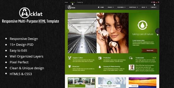 Acklat Responsive Multipurpose HTML Template