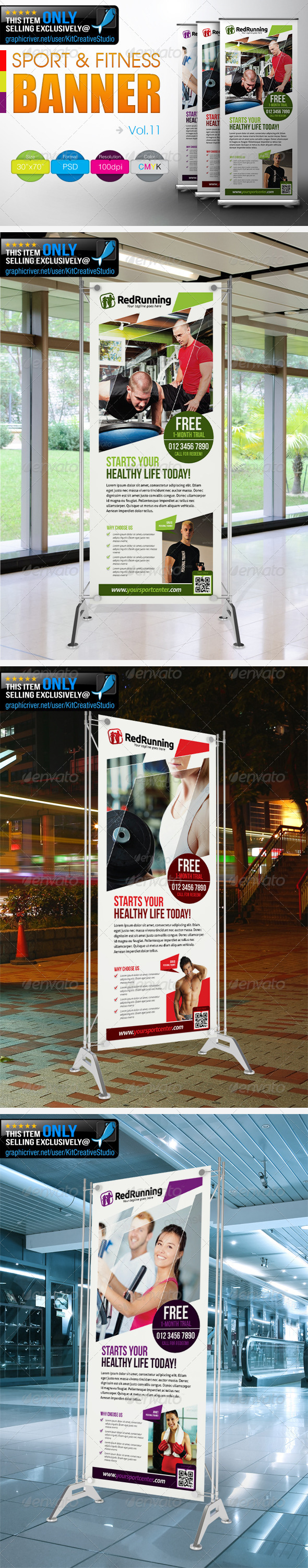 Fitness Banner Vol.11 - Signage Print Templates