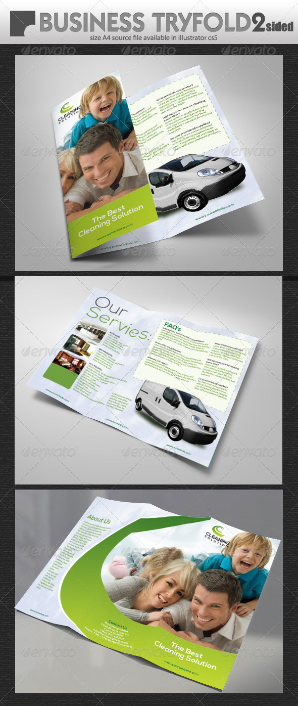 GraphicRiver Cleaning Brochure 5318231