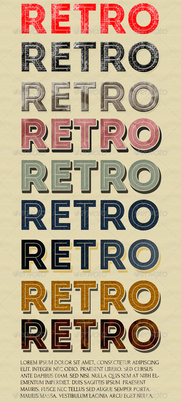 GraphicRiver 10 Retro Text Styles 5318282