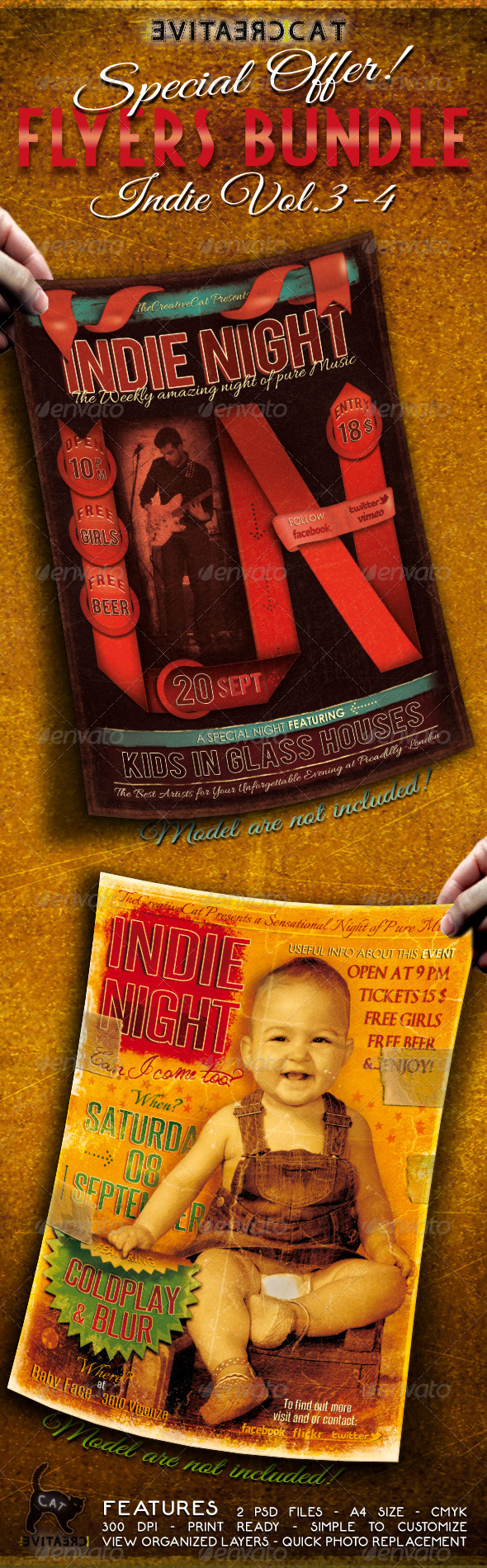 GraphicRiver Indie Flyer Poster Bundle Vol 3-4 5318286