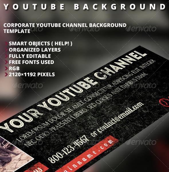 GraphicRiver Retro Youtube Background 5318354
