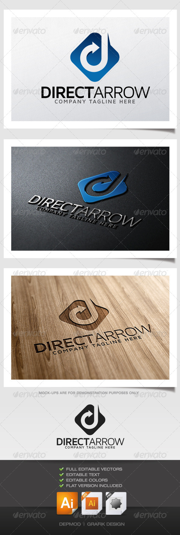 GraphicRiver Direct Arrow Logo 5318723