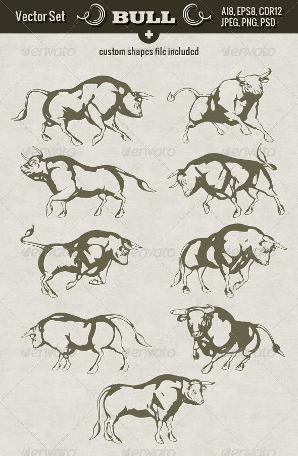 GraphicRiver Bull Set 5318747